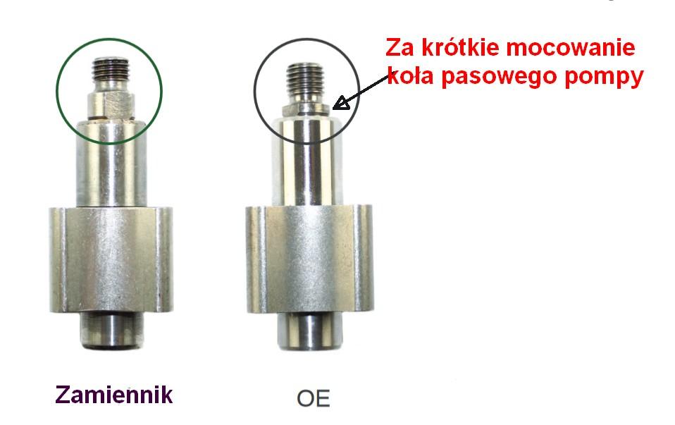 Mocowanie koła pasowego pompy olejowej 1.7 cdti