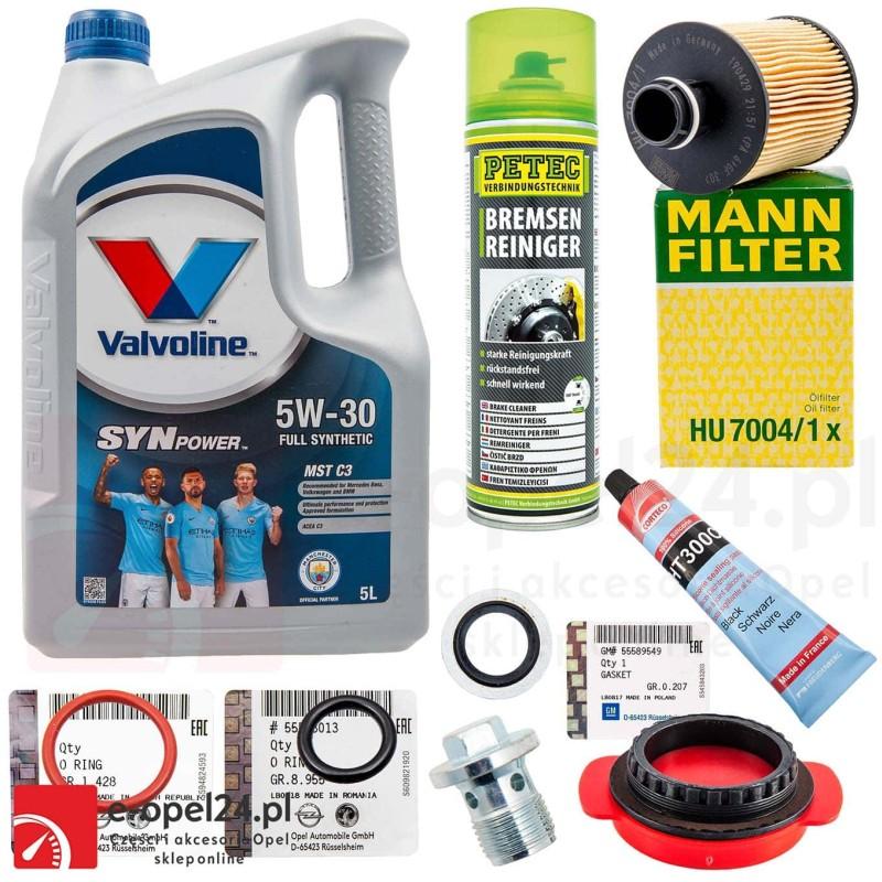 Zestaw wymiany uszczelki smoka z uszczelkami filtrem oraz olejem Opel Astra J / Insignia / Zafira C 2.0 cdti